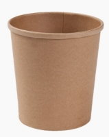 Kulatá EKO miska na polévku 460 ml - kraft, papírová, hnědá, 50 ks