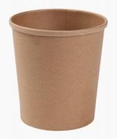 Kulatá EKO miska na polévku 750 ml - kraft, papírová, hnědá, 50 ks