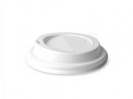 Víčko na kelímek Coffee to go 0,1 l/0,15 l - průměr 62 mm, s dírkou, plastové, bílé, 100 ks