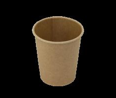Papírový EKO kelímek Coffee To Go 0,2 l - průměr 80 mm, kraft, hnědý, 50 ks