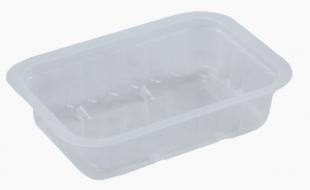 Hranatá zatavovací miska na polévku 250 ml - plastová, PP, 137x95x30 mm, transparentní, 100 ks