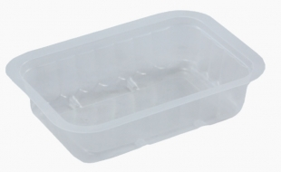 Hranatá zatavovací miska na polévku 370 ml - plastová, PP, 137x95x45 mm, transparentní, 100 ks