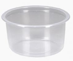Kulatá zatavovací miska na polévku 350 ml - plastová, PP, transparentní, 50 ks