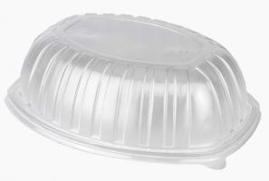 Plastové víčko pro menu box do mikrovlnné trouby 800/1200 ml - vysoké, jednodílné, PP, transparentní, 30 ks