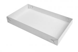 Podnos na chlebíčky - 34x21x4 cm, bílý, 50 ks