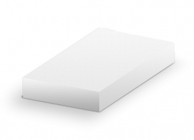 Krabice na chlebíčky - 38x38x6 cm, bílá, 50 ks