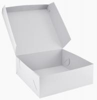 Dortová krabice - 22x22x9 cm, bílá, 50 ks