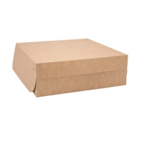 Dortová EKO krabice - 20x20x10 cm, kraft, hnědá, 50 ks