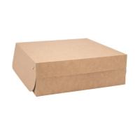 Dortová EKO krabice - 22x22x9 cm, kraft, hnědá, 50 ks