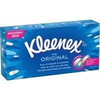 Kosmetické kapesníčky Kleenex Original - v krabičce, třívrstvé, 100% celulóza, 70 ks