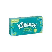 Kosmetické kapesníčky Kleenex Balsam+Menthol - v krabičce, třívrstvé, 100% celulóza, 72 ks