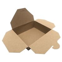 Papírový menu box 1300 ml – 15x12x6,5 cm, kraft, hnědý, 50 ks
