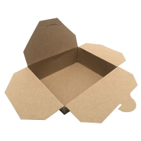 Papírový menu box 1800 ml – 19,5x14x6,5 cm, kraft, hnědý, 50 ks