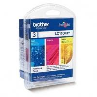 Brother originální ink LC-1100HYRBWBP, CMY, 3x750str., Brother DCP-6690CW, MFC-6490CW, výhodné balení