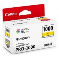Canon originální ink 0549C001, yellow, 3365str., 80ml, PFI-1000Y, Canon imagePROGRAF PRO-1000