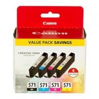 Canon originální ink 0386C005, color, 4x7ml, CLI571, 4ks, Canon Pixma TS5051,53,55, TS6050,51,52, TS8051, TS9050