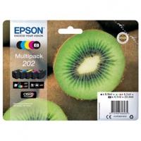 Epson originální ink 13T02E74010, 202, CMYK, 1x6.9ml, 4x4.1ml, Epson XP-6000, XP-6005