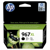 HP originální ink 3JA31AE, HP 967, black, 3000str., 68.7ml, extra high capacity, HP Officejet Pro 9012, 9014, 9015, 9016, 9019/P
