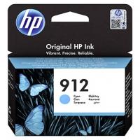 HP originální ink 3YL77AE, HP 912, cyan, 315str., high capacity, HP Officejet 8012, 8013, 8014, 8015 Officejet Pro 802