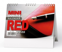 Stolní daňový kalendář BSA8 - Red, týdenní