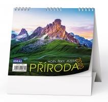 Stolní obrázkový kalendář BSL5 - Příroda, hory, řeky, jezera.., týdenní