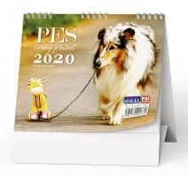 Stolní obrázkový kalendář BSL7 - Pes, věrný přítel, týdenní