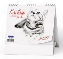 Stolní obrázkový kalendář BSL9 - Kočky, týdenní