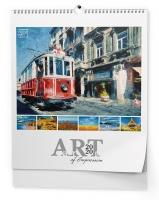 Nástěnný obrázkový kalendář BNV7 - Art of impression, A2, měsíční