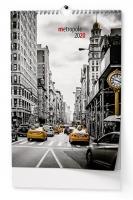 Nástěnný obrázkový kalendář BNE4 - Metropole, měsíční