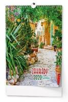 Nástěnný obrázkový kalendář BNG8 - Zahrady, A3, měsíční