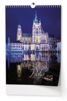 Nástěnný obrázkový kalendář BNK1 - Praha, A3, měsíční