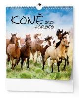 Nástěnný obrázkový kalendář BNO4 - Koně, měsíční