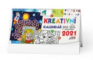 Stolní obrázkový kalendář - Kreativní kalendář pro děti, týdenní