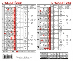 Plánovací karta BKA0 - A5, modrá, roční