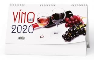 Stolní obrázkový kalendář BSE1 - Víno, čtrnáctidenní