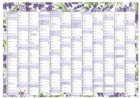 Nástěnný plánovací kalendář - Levandule, 600x420 mm, roční
