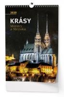 Nástěnný obrázkový kalendář BNF7 - Krásy Moravy a Slezska, A3, měsíční