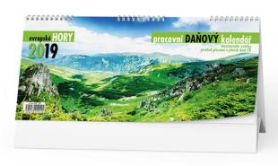 Stolní daňový kalendář BSN2 - Evropské hory, týdenní