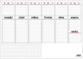 Stolní plánovací podložka - A3, týdenní, 30 listů