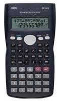 Školní kalkulačka Deli ED82MS - 2 řádky, 12 znaků, modrá
