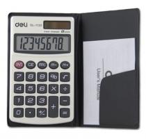 Kapesní kalkulačka Deli E1120 - 1 řádek, 8 znaků, stříbrná