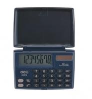 Kapesní kalkulačka Deli E39218 - 1 řádek, 8 znaků, černá - DOPRODEJ