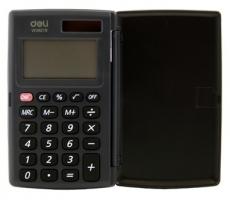 Kapesní kalkulačka Deli E39219 - 1 řádek, 8 znaků, černá