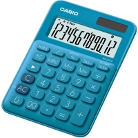 Stolní kalkulačka Casio MS 20UC BU - 1 řádek, 12 znaků, modrá