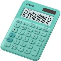 Stolní kalkulačka Casio MS 20UC GN - 1 řádek, 12 znaků, zelená