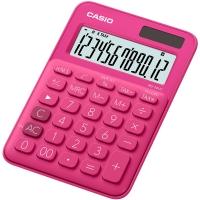 Stolní kalkulačka Casio MS 20UC RD - 1 řádek, 12 znaků, tmavě růžová