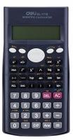Školní kalkulačka Deli EM1710 - 2 řádky, 12 znaků, černá
