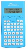 Školní kalkulačka Deli EM1710A - 2 řádky, 12 znaků, modrá