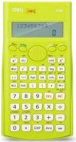 Školní kalkulačka Deli EM1710A - 2 řádky, 12 znaků, zelená