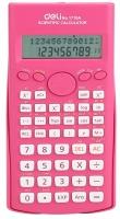 Školní kalkulačka Deli EM1710A - 2 řádky, 12 znaků, růžová